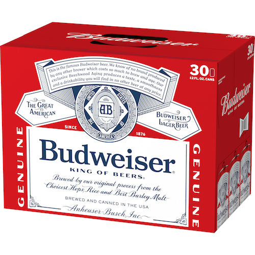 Budweiser 30 Pack Beer