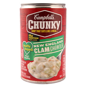 Campbell's Chunky Soup Healthy Request New England Clam Chowder