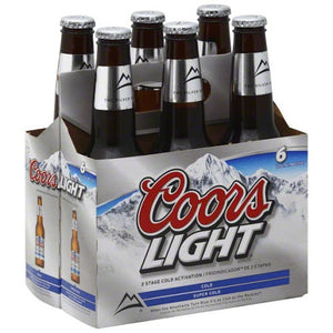 Coors Light 6 Pack Beer