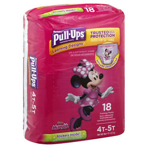 Huggies Pull Ups Trianing Diapers 4t-5t Girls