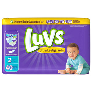 Luvs Ultra Leak Guards Diapers Size 2