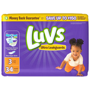 Luvs Ultra Leak Guards Diapers Size 3
