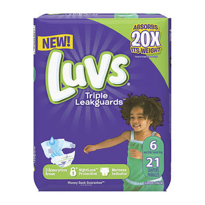 Luvs Ultra Leak Guards Diapers Size 6