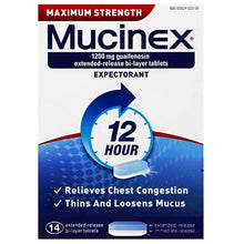 Load image into Gallery viewer, Mucinex 12 Hour Expectorant