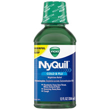 Load image into Gallery viewer, NyQuil Cold and Flu 12 Oz.