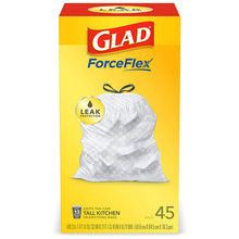 Load image into Gallery viewer, Glad Force Flex 45 Ct. Kitchen Trash Bags