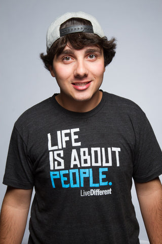 Life is about People - Black Crew Neck
