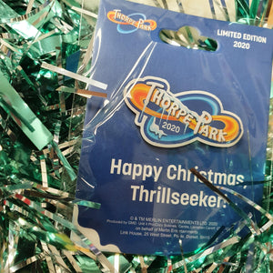 Christmas Thorpe Park Pin Badge