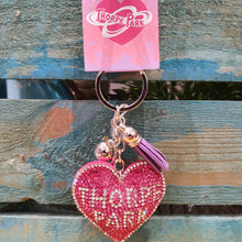 Load image into Gallery viewer, Jewelled Heart Keyring