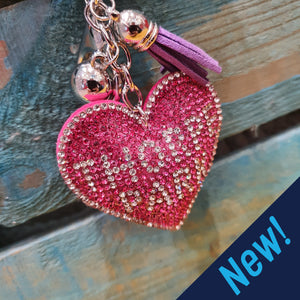 Jewelled Heart Keyring