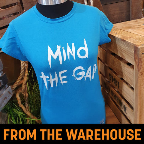 Derren Brown's Ghost Train Mind The Gap Blue Ladies T-Shirt