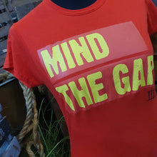 Load image into Gallery viewer, Derren Brown's Ghost Train Mind The Gap Red Ladies T-Shirt