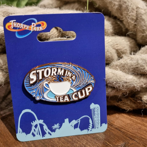 Storm in a Teacup 35th Birthday Pin Badge