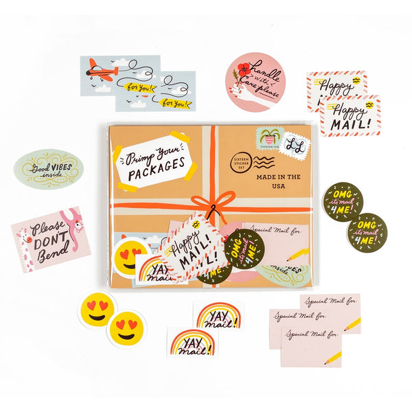 Primp Your Packages Sticker Set