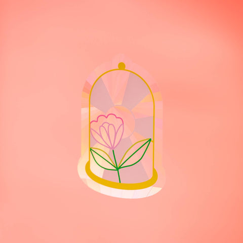 Bell Jar Sun Catcher Decal