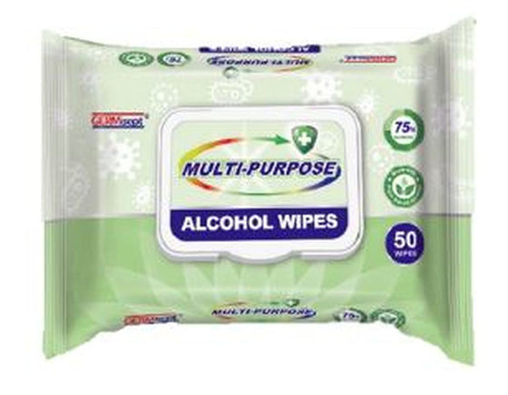 GERMisept Multi-Purpose 75% Alcohol Wipes 50 Count