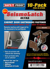 SEISMOLATCH ULTRA: Automatic Cabinet Door Earthquake Latches | 10-Pack