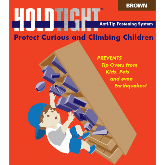 HOLD TIGHT Furniture, Bookcase & File Cabinet Anti-Tip Fastener