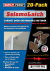 SEISMOLATCH: Automatic Cabinet Door Earthquake Latches | 20-Pack