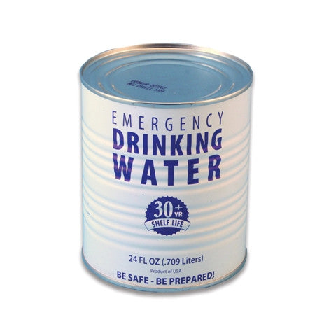Water, Can, 30-Year Shelf Life