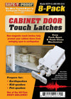 TOUCHLATCH: Non-Magnetic Cabinet Door Earthquake Latches | 8-Pack