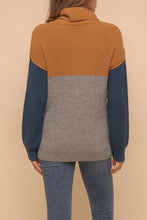 Load image into Gallery viewer, Color block Turtleneck (pre-order)