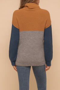 Color block Turtleneck (pre-order)