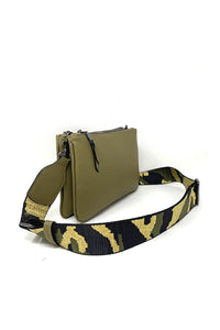 Crossbody Bag with Camo Strap