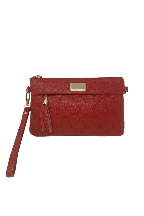 Rose-Embossed Small Crossbody