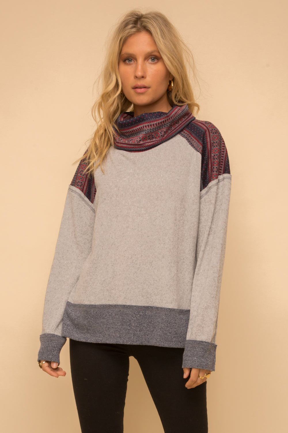 Jacquard Turtleneck