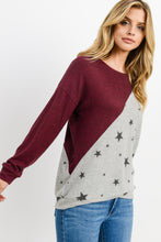 Load image into Gallery viewer, Star Color Block Sweater
