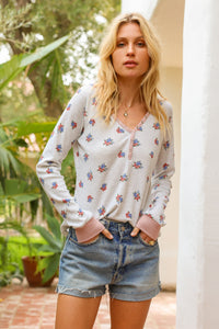 Floral Thermal Top