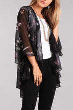 Load image into Gallery viewer, Floral Chiffon Cardigan
