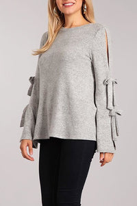 Sleeve Tie Sweater