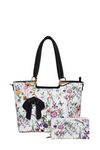 Load image into Gallery viewer, Floral Bow Tote