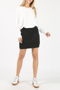 Two Pocket Black Skirt