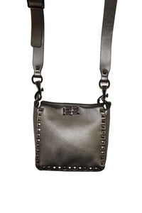 Studded Gray Crossbody