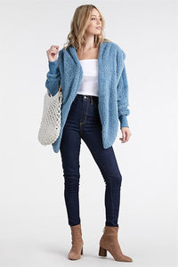 Fuzzy Faux-Fur Jacket