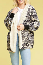 Load image into Gallery viewer, Fuzzy Fur Camo Jacket