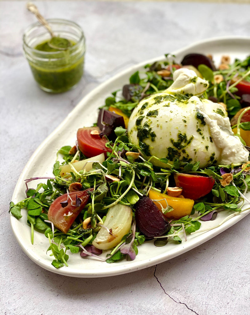 Roasted Beet & Burrata Salad