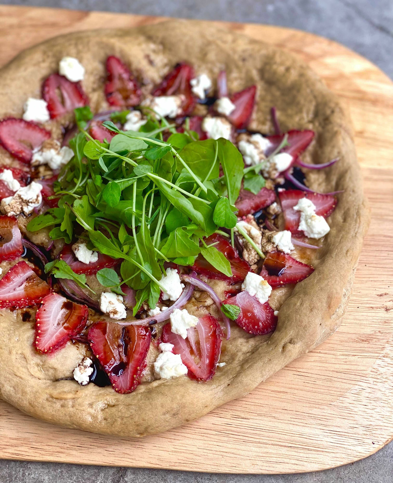 Strawberry & Goat Cheese Pizza