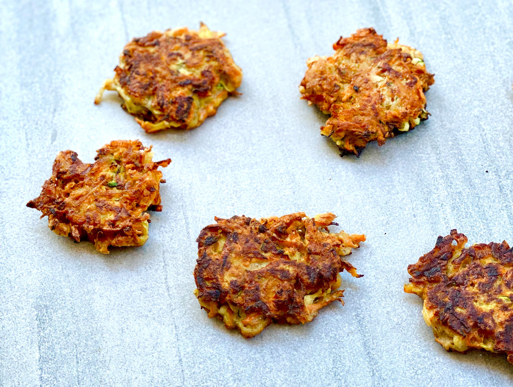 Zucchini & Root Vegetable Fritters Fried