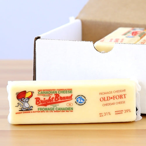 Old White Cheddar Cheese (Bright's Cheese & Dairy)
