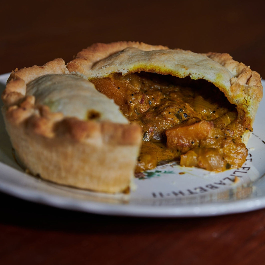 Vegan Butternut Squash & Coconut Curry Pie (5