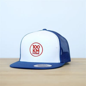 100km Foods Hat (Blue & White)