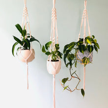 "Load image into Gallery viewer, LORI - White Cotton Macramé Plant Hanger 32"" (81cm)"