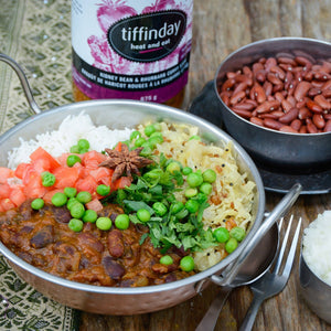 Kidney Bean & Rhubarb Curry (Tiffinday)