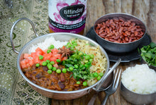 Load image into Gallery viewer, Kidney Bean & Rhubarb Curry Stew (675g Jar - Vegan)