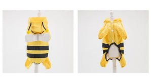 Raincoat Bees Cosplay Cute Pet Clothes