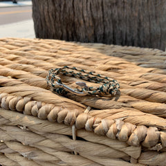 Green Anchor Wrap Bracelet